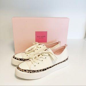 Kate Spade Kaia Canvas Sneakers Cream Size 38